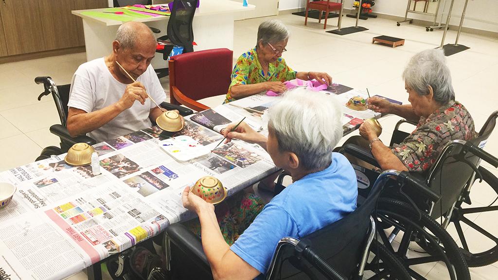 Christmas Crafts Thk Nursing Home Hougang Thye Hua Kwan Moral Society
